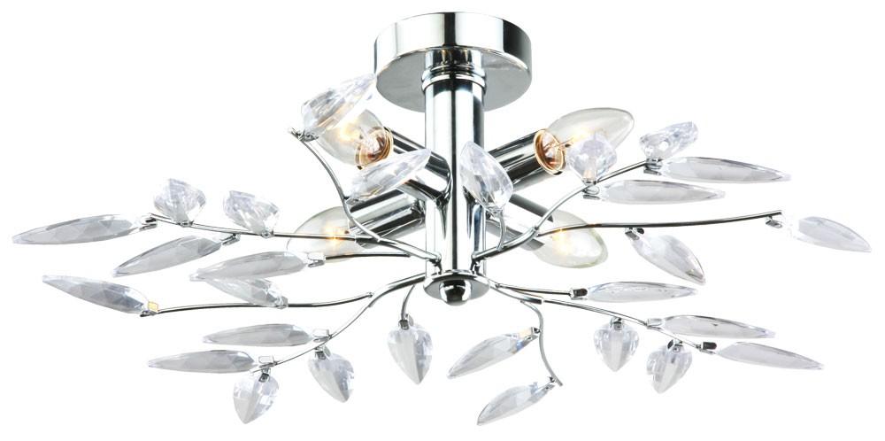 Wohnzimmer decken blatt lampe silber bl tter flurlampe for Flurlampe deckenlampe