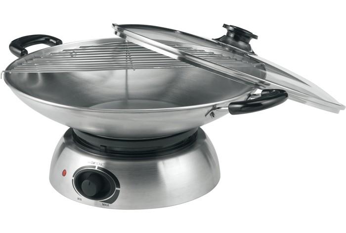 elektrischer edelstahl wok pfanne aeg wok 5545 ebay. Black Bedroom Furniture Sets. Home Design Ideas