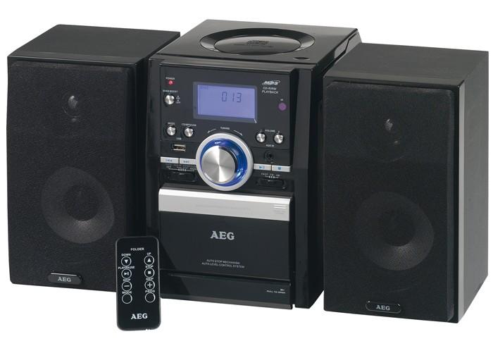 stereoanlage cd player radio kassette usb aeg mc 4432 ebay. Black Bedroom Furniture Sets. Home Design Ideas