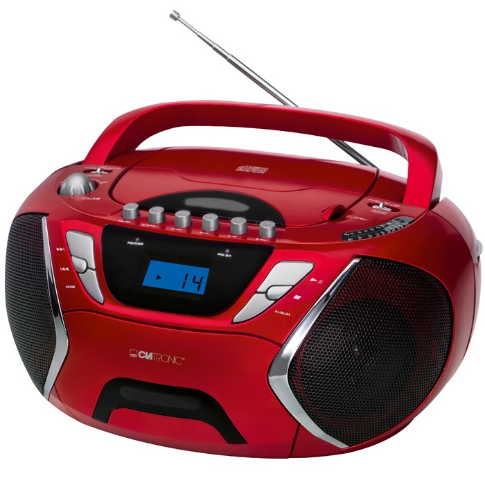 tragbarer kinder jugend cd player cd radio mp3 aux rot ebay. Black Bedroom Furniture Sets. Home Design Ideas