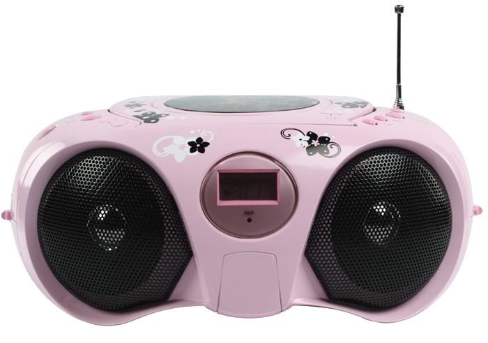 radio cd player tragbar stereoanlage stereo tuner anlage m dchen kinder pink ebay. Black Bedroom Furniture Sets. Home Design Ideas