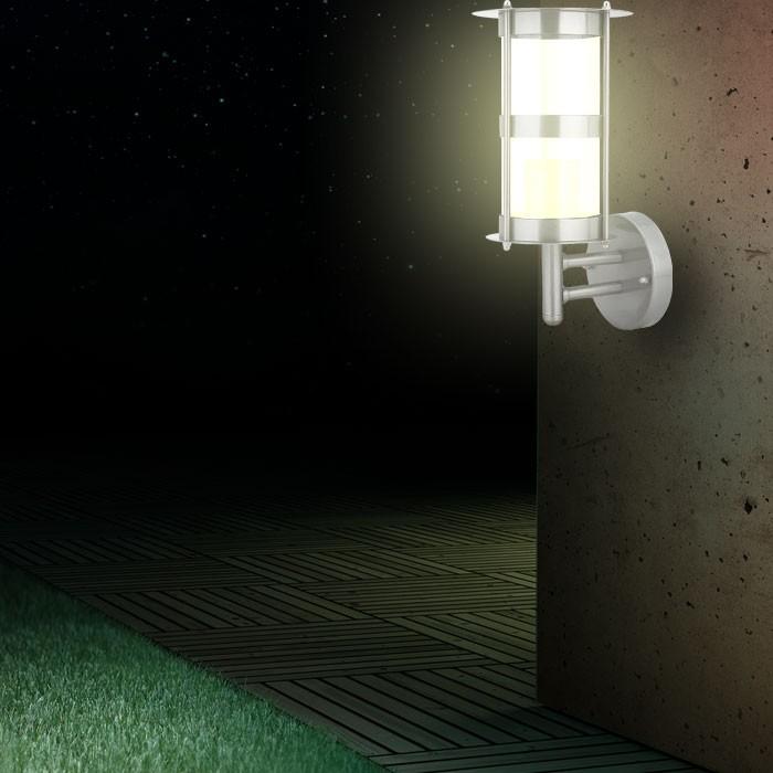 design edelstahl haust rlampe t rleuchte aussenlampe au enlampe au enbeleuchtung ebay. Black Bedroom Furniture Sets. Home Design Ideas