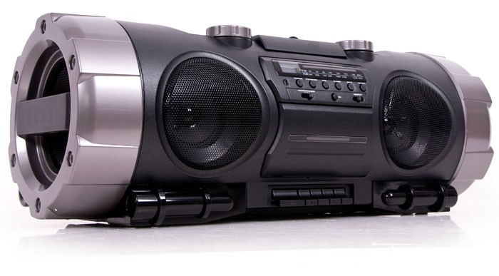 Portabler-CD-Player-Ghettoblaster-Radio-Radiorekorder-CD-Spieler-Batteriebetrieb