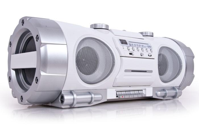 tragbare musikanlage ghettoblaster kassette mobile boombox. Black Bedroom Furniture Sets. Home Design Ideas