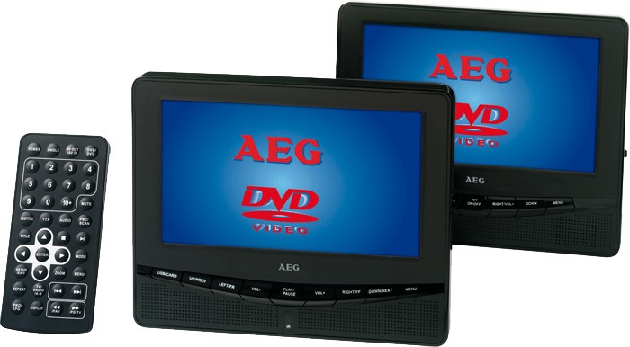 2 monitore auto dvd player tragbar 12v 240v kopfst tze 17. Black Bedroom Furniture Sets. Home Design Ideas