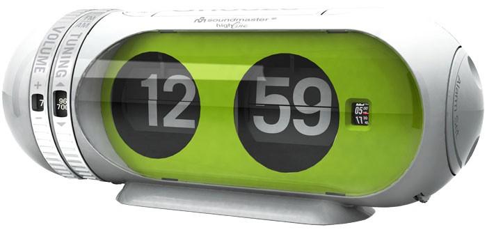 design flip flop radiowecker einschlaffunktion gr n ebay. Black Bedroom Furniture Sets. Home Design Ideas