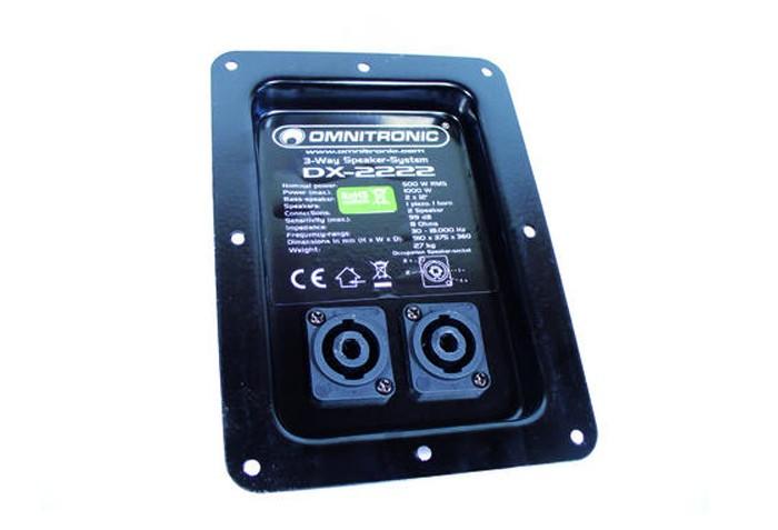 frequenzweiche mit anschlussfeld f r omnitronic dx 2222 4026397101089 ebay. Black Bedroom Furniture Sets. Home Design Ideas