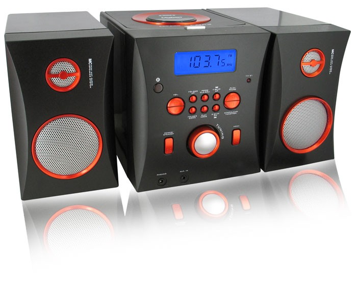 Neu-Tragbarer-CD-Player-Radio-MP3-Stereoanlage-Musikanlage-Musikcenter-schwarz