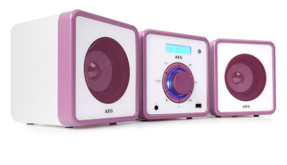 stereo musik anlage radio mp3 kinder cd player usb aux uhr. Black Bedroom Furniture Sets. Home Design Ideas