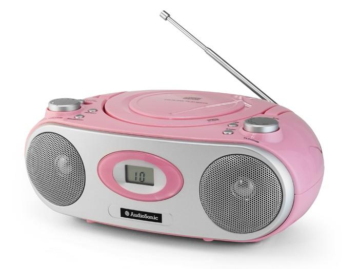 tragbare kinder stereoanlage cd player radio tristar. Black Bedroom Furniture Sets. Home Design Ideas