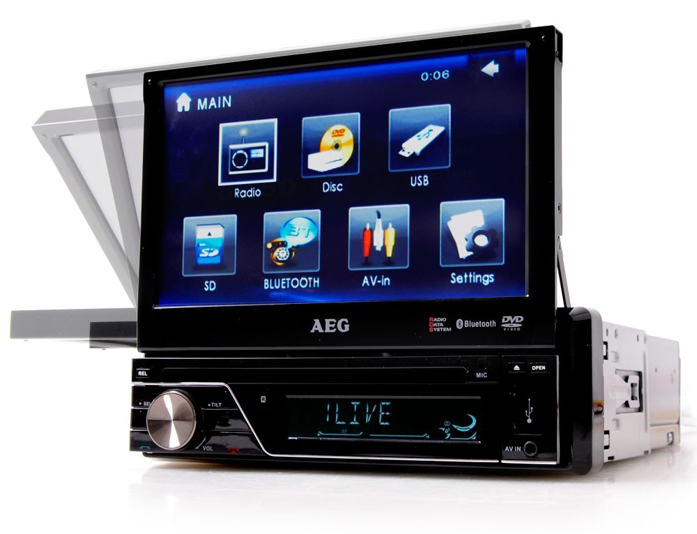 autoradio dvd player mp3 usb bluetooth touchscreen 7 zoll. Black Bedroom Furniture Sets. Home Design Ideas