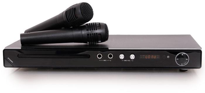dvd player mit karaoke anlage system 2 mikros. Black Bedroom Furniture Sets. Home Design Ideas