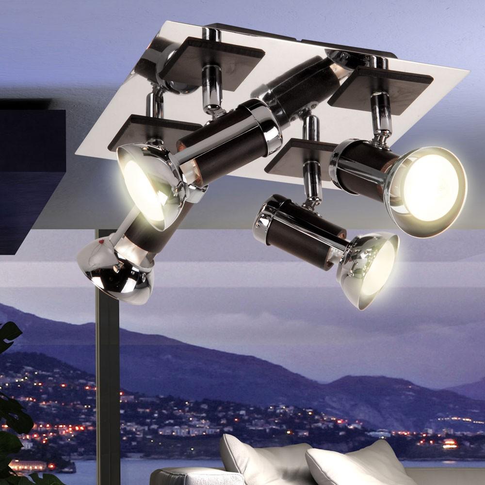k chenleuchte k chenlampe wohnzimmerlampe beleuchtung lampe deckenlampe 4 spots ebay. Black Bedroom Furniture Sets. Home Design Ideas
