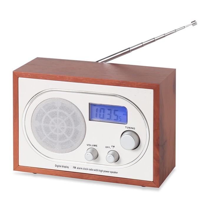 retro nostalgie miniradio holz design radio uhrenradio radiowecker denver tr 36 ebay. Black Bedroom Furniture Sets. Home Design Ideas