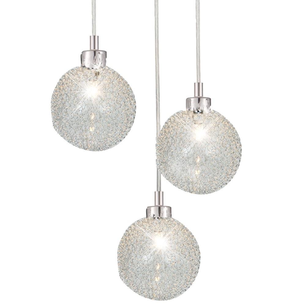 deckenlampe h ngeleuchte 3 flammig pendelleuchte glaskugeln beleuchtung leuchte ebay. Black Bedroom Furniture Sets. Home Design Ideas