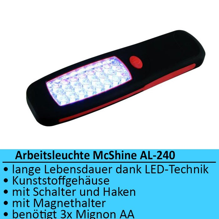 led arbeitsleuchte kfz auto werkstatt taschenlampe magnet. Black Bedroom Furniture Sets. Home Design Ideas