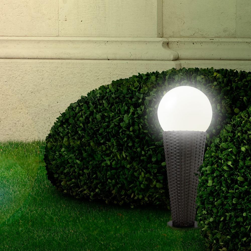 solar rattan aussenleuchte gartenleuchte designlampe lampe. Black Bedroom Furniture Sets. Home Design Ideas