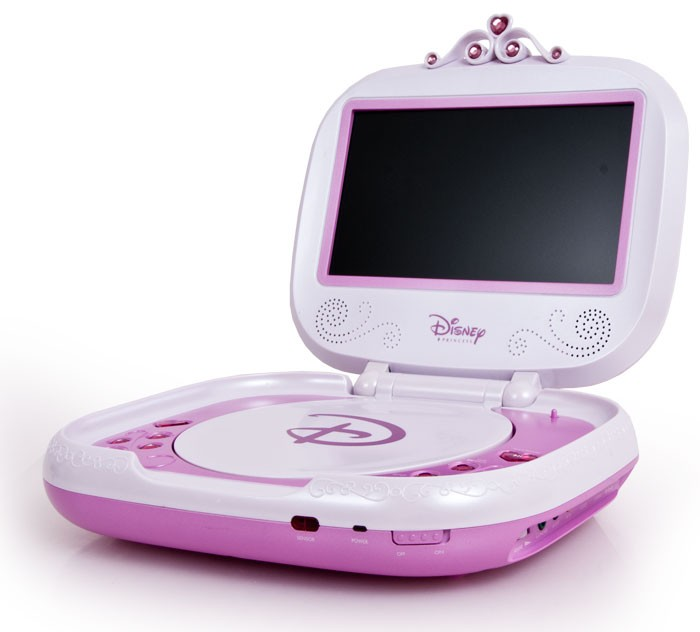 kinder m dchen dvd player portable rosa 17 5cm 7 lcd