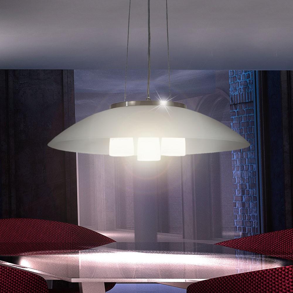 h nge leuchte glas pendel lampe k chen beleuchtung wohnzimmer b ro esszimmer ebay. Black Bedroom Furniture Sets. Home Design Ideas