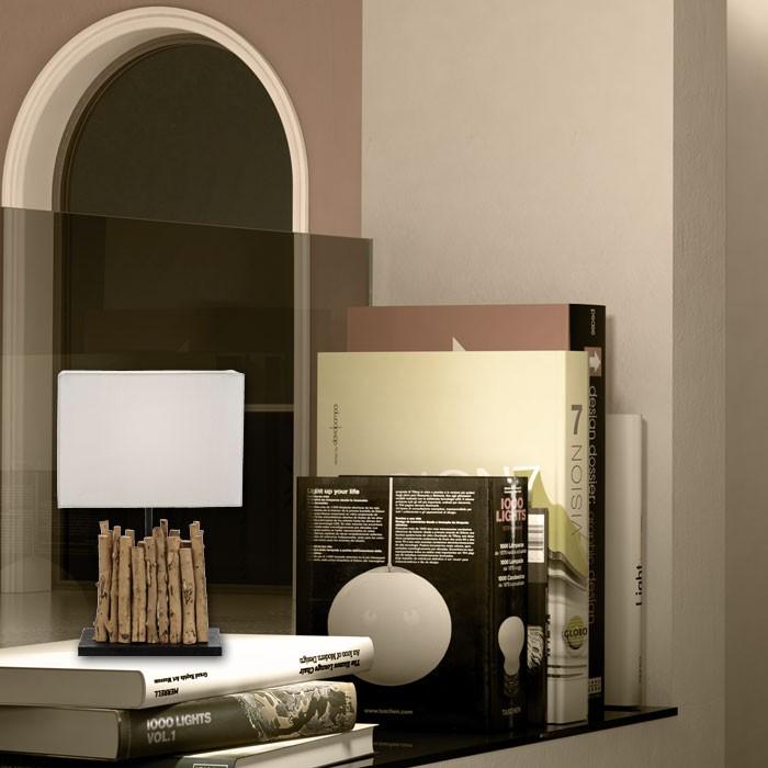nachttischleuchte holz wohndesign und inneneinrichtung. Black Bedroom Furniture Sets. Home Design Ideas