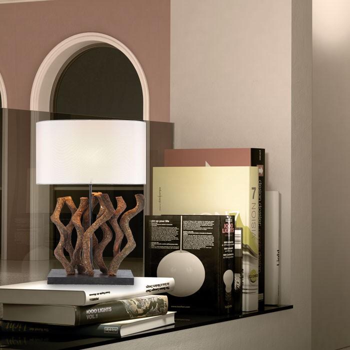 schlafzimmer schreibtisch lampe leuchte exotische holz design schreibtischlampe ebay. Black Bedroom Furniture Sets. Home Design Ideas