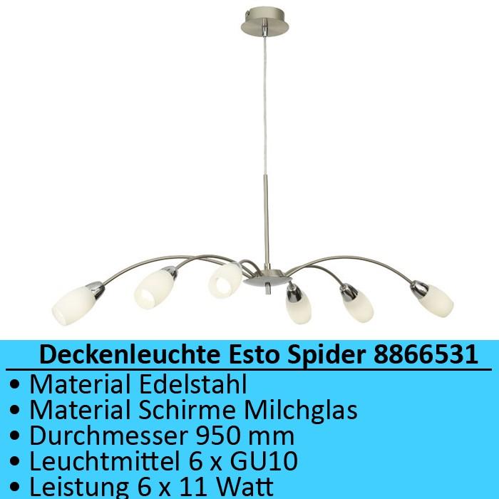 Haengeleuchte Deckenlampe 6 Arme Haengelampe Deckenleuchte Wohnzimmer Spinne
