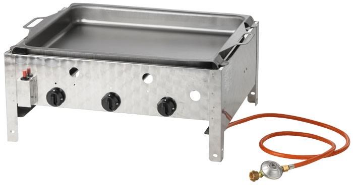 3 flammiger gastronomie grill br ter gasbr ter gasgrill profigrill activa 12540 ebay. Black Bedroom Furniture Sets. Home Design Ideas