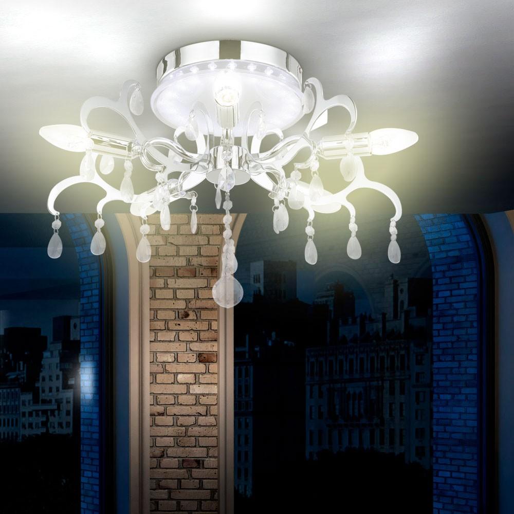 Design deckenleuchte kristall leuchte lampe edel elegant for Kristall lampe