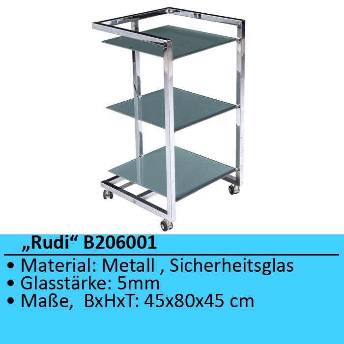 beistelltisch regal nachttisch glas metall tisch badezimmerschrank bhp rudi ebay. Black Bedroom Furniture Sets. Home Design Ideas