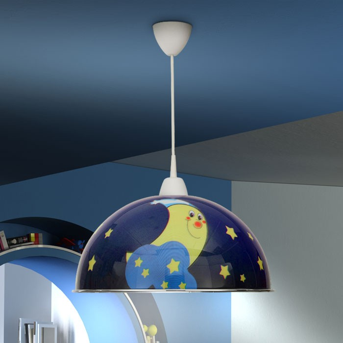 mondmotiv deckenleuchte h ngelampe kinderzimmer deckenlampe kinder baby lampe ebay. Black Bedroom Furniture Sets. Home Design Ideas