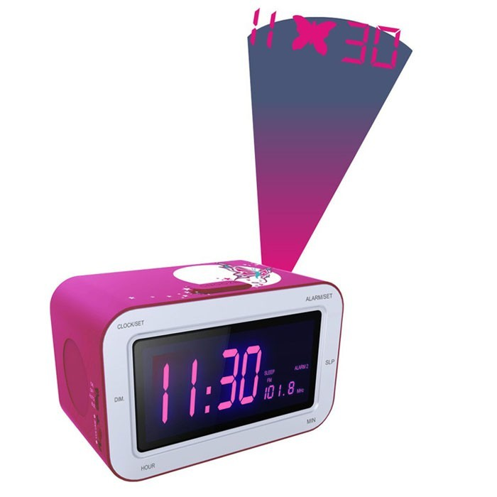 projektions radiowecker radio uhrenradio wecker rosa mit. Black Bedroom Furniture Sets. Home Design Ideas