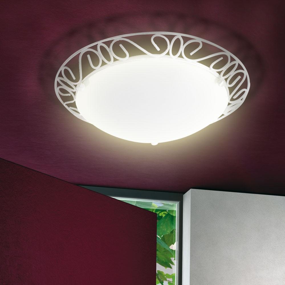 Deckenleuchte flurlampe alabaster deckenlampe wei design for Flurlampe deckenlampe