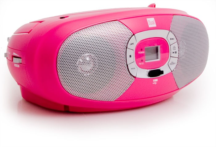 kinder mädchen stereoanlage tragbar cd/mp3-player radio usb