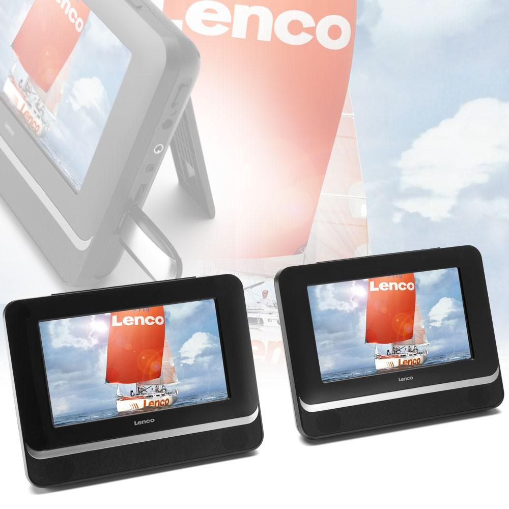 neu dvd player f r auto reise tragbar portabel 2 displays. Black Bedroom Furniture Sets. Home Design Ideas