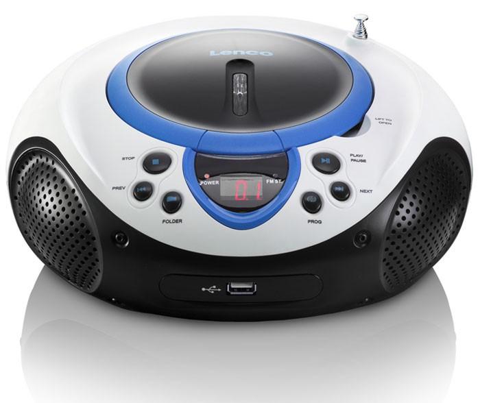 tragbarer cd player mp3 usb anschluss radio tuner aux led. Black Bedroom Furniture Sets. Home Design Ideas