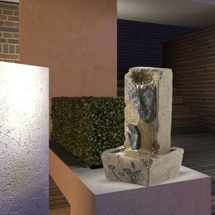 wasser brunnen licht lampe zimmerbrunnen springbrunnen. Black Bedroom Furniture Sets. Home Design Ideas