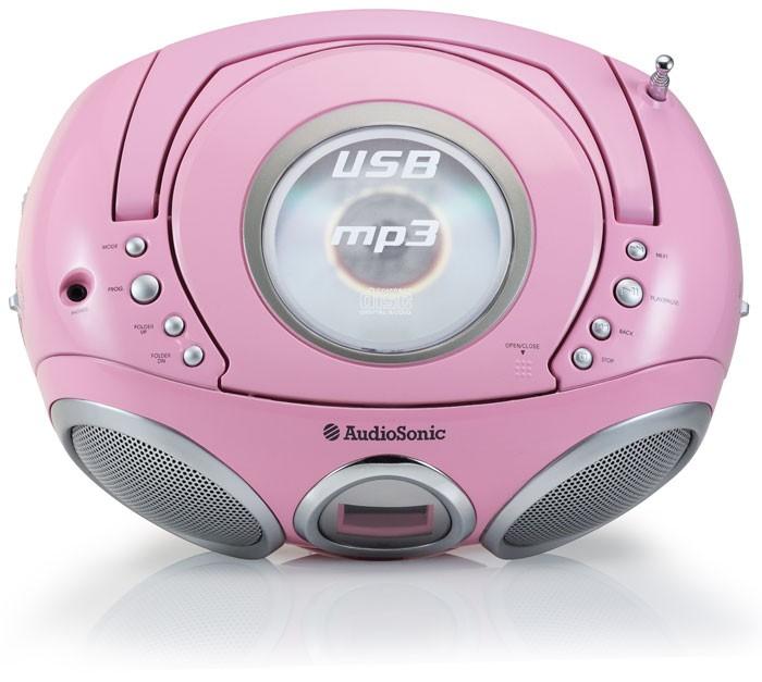 ghettoblaster pink usb mp3 cd spieler stereoanlage. Black Bedroom Furniture Sets. Home Design Ideas