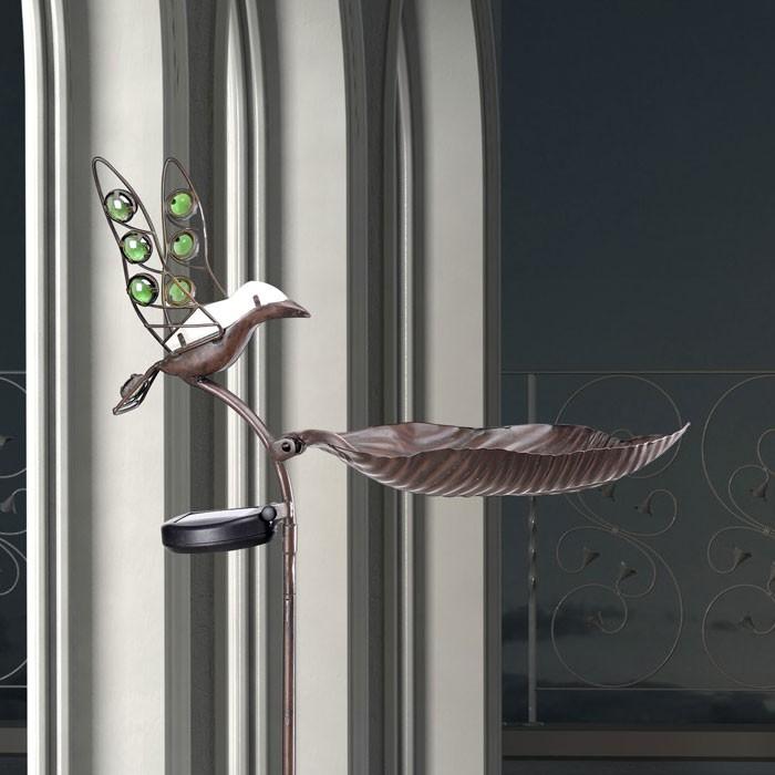 Luminaire solaire ext rieur led oiseau jardin terrasse for Luminaire exterieur decoratif