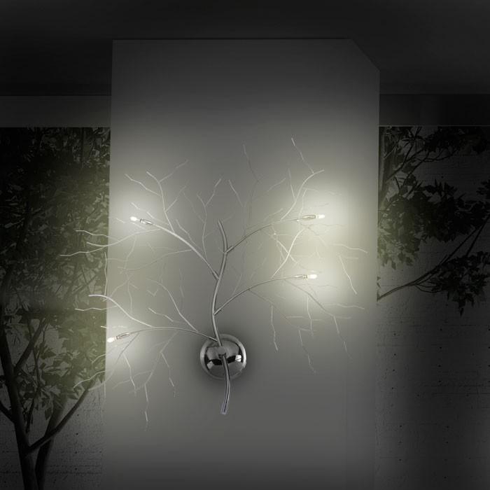 wandbeleuchtung baum lampe leuchte wandleuchte wand licht. Black Bedroom Furniture Sets. Home Design Ideas