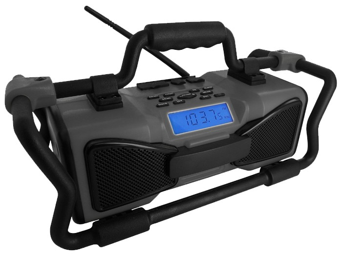 Arbeitsradio-Outdoorradio-Ausenradio-USB-MP3-SD-JOB-SITE-RADIO-grau-BigBen-TR15G
