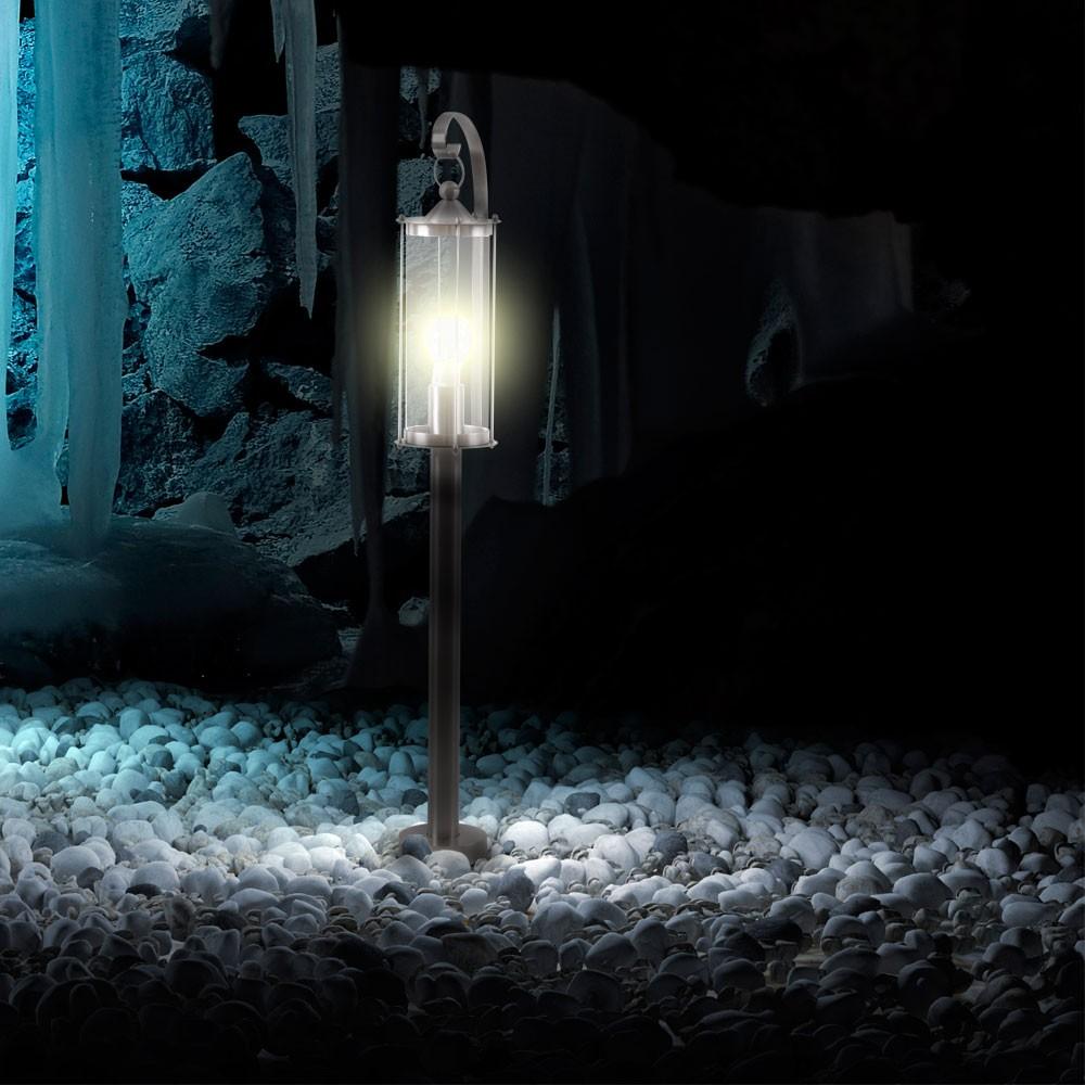 edelstahl garten leuchte au en laterne ip44 terrasse weg stand lampe ip44 eglo ebay. Black Bedroom Furniture Sets. Home Design Ideas