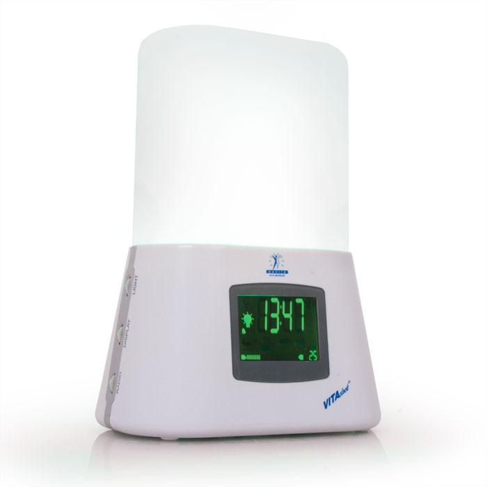 lichtwecker radiowecker radio led tageslicht licht wecker vitaclock wellness ebay. Black Bedroom Furniture Sets. Home Design Ideas