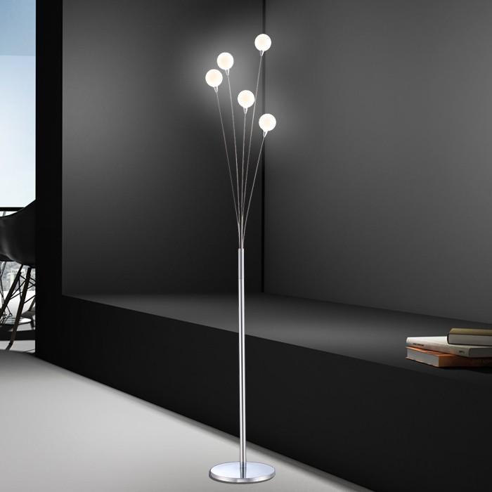 wohnzimmer stehlampe chrom leselampe deko inkl. dimmer lampe licht, Wohnzimmer dekoo