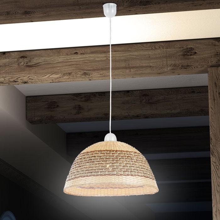 Design Wohnzimmer Rattanleuchte Deckenleuchte Deckenlampe Wohnzimmerlampe Licht