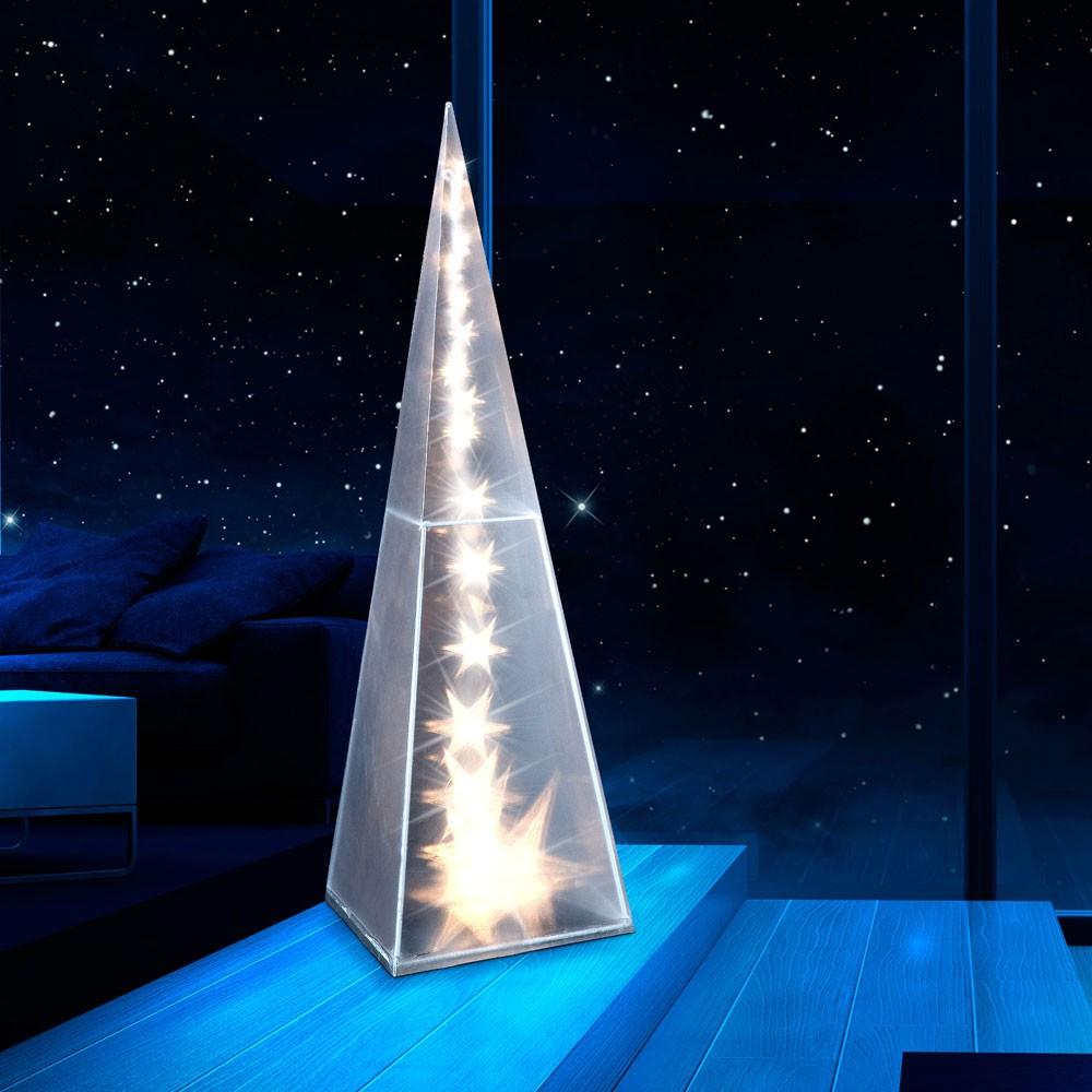 pyramid shaped modern deko floor lamp light energy safe. Black Bedroom Furniture Sets. Home Design Ideas