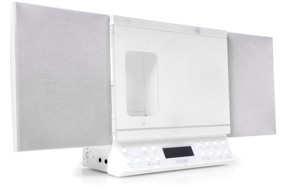 kompakt stereoanlage weiss radio cd mp3 player usb sd aux. Black Bedroom Furniture Sets. Home Design Ideas