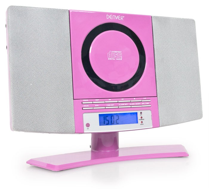 rosa kinder mini kompakt stereoanlage m dchen wecker cd. Black Bedroom Furniture Sets. Home Design Ideas