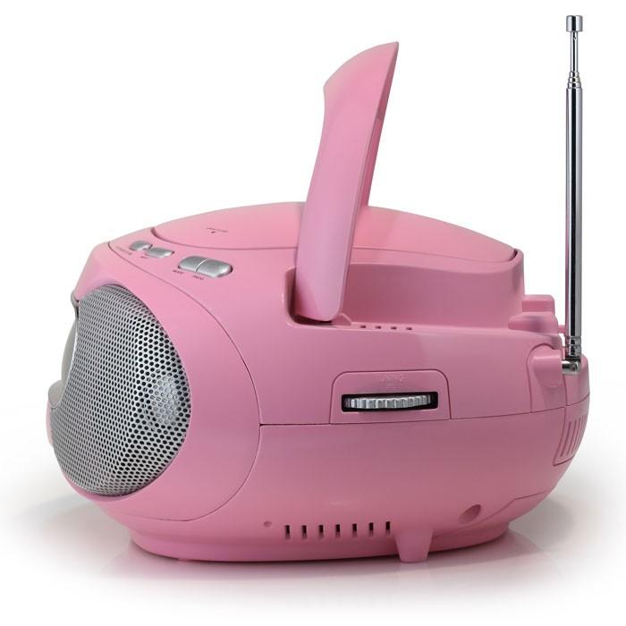 neu tragbarer rosa cd mp3 kinder player ukw radio. Black Bedroom Furniture Sets. Home Design Ideas