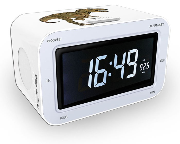 radiowecker f r jungs uhr uhrenradio lcd display dimmbar wecker bigben rr30 dino ebay. Black Bedroom Furniture Sets. Home Design Ideas