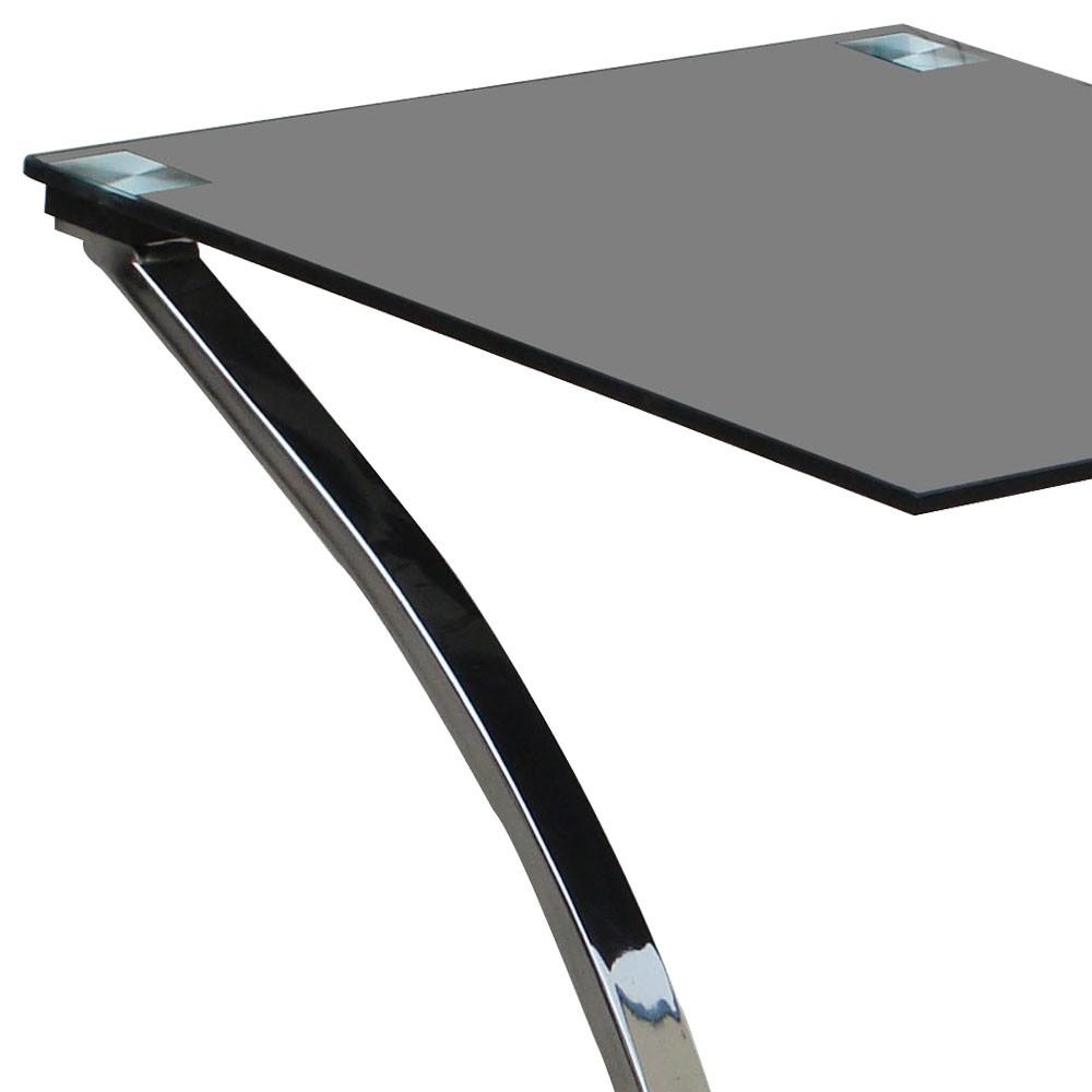 design couchtisch glastisch nachttisch metall beistelltisch bhp sixtus b154036 ebay. Black Bedroom Furniture Sets. Home Design Ideas